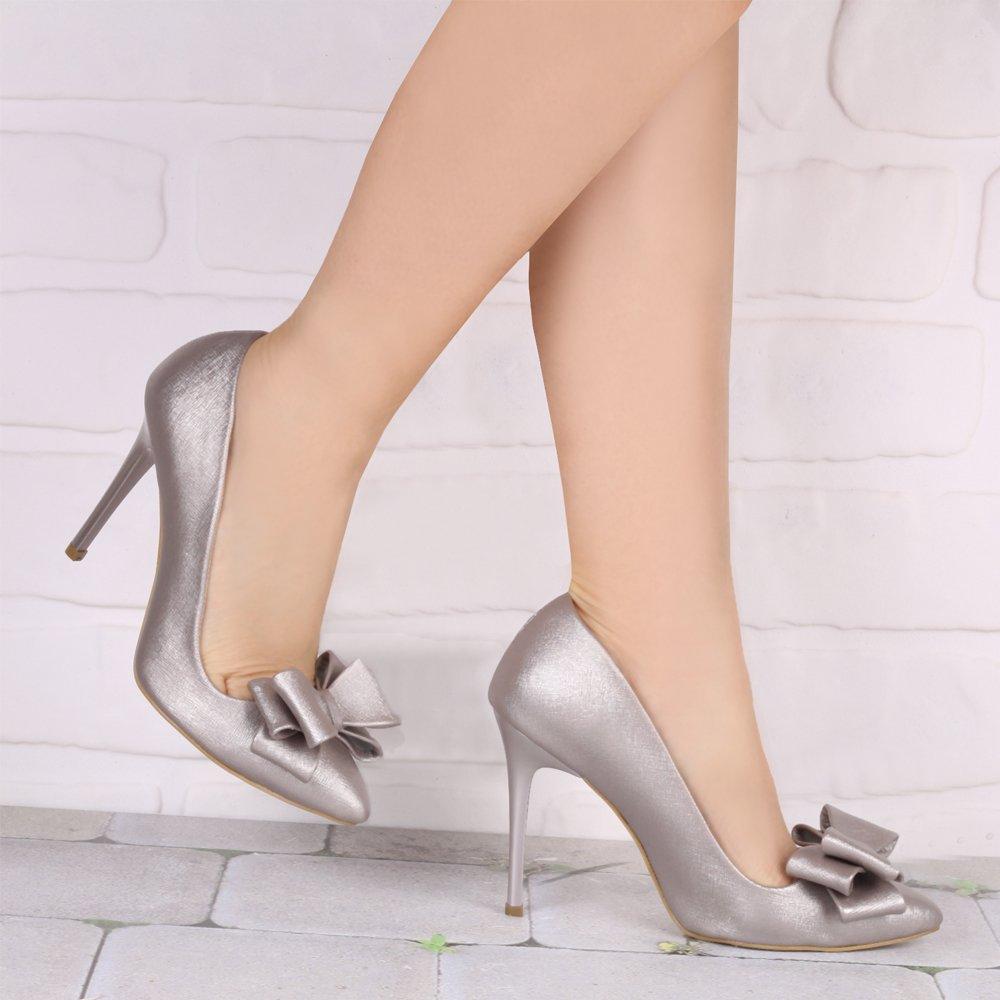 fiyonklu-gumus-ayakkabi