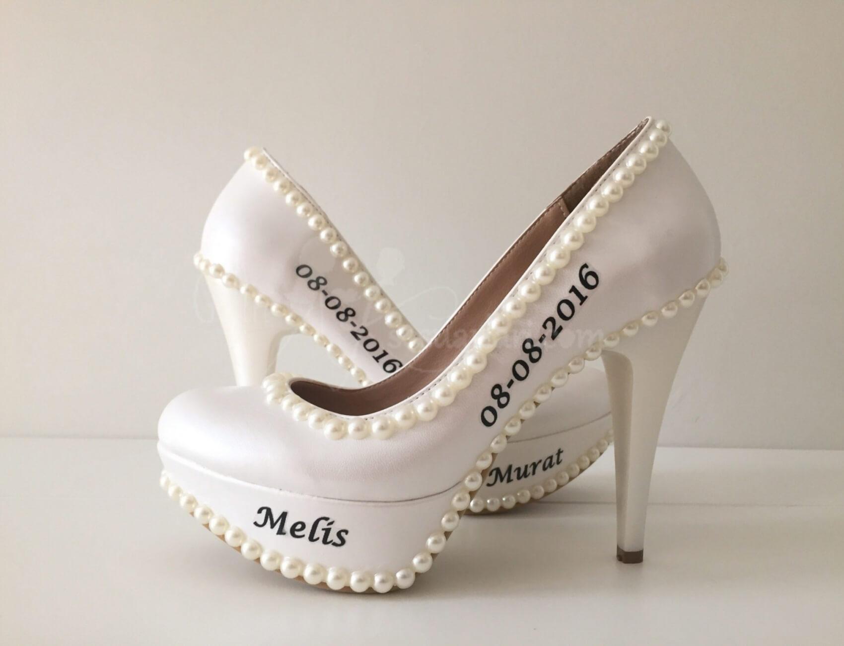 İncili Beyaz Gelin Ayakkabısı Nasıl Olur