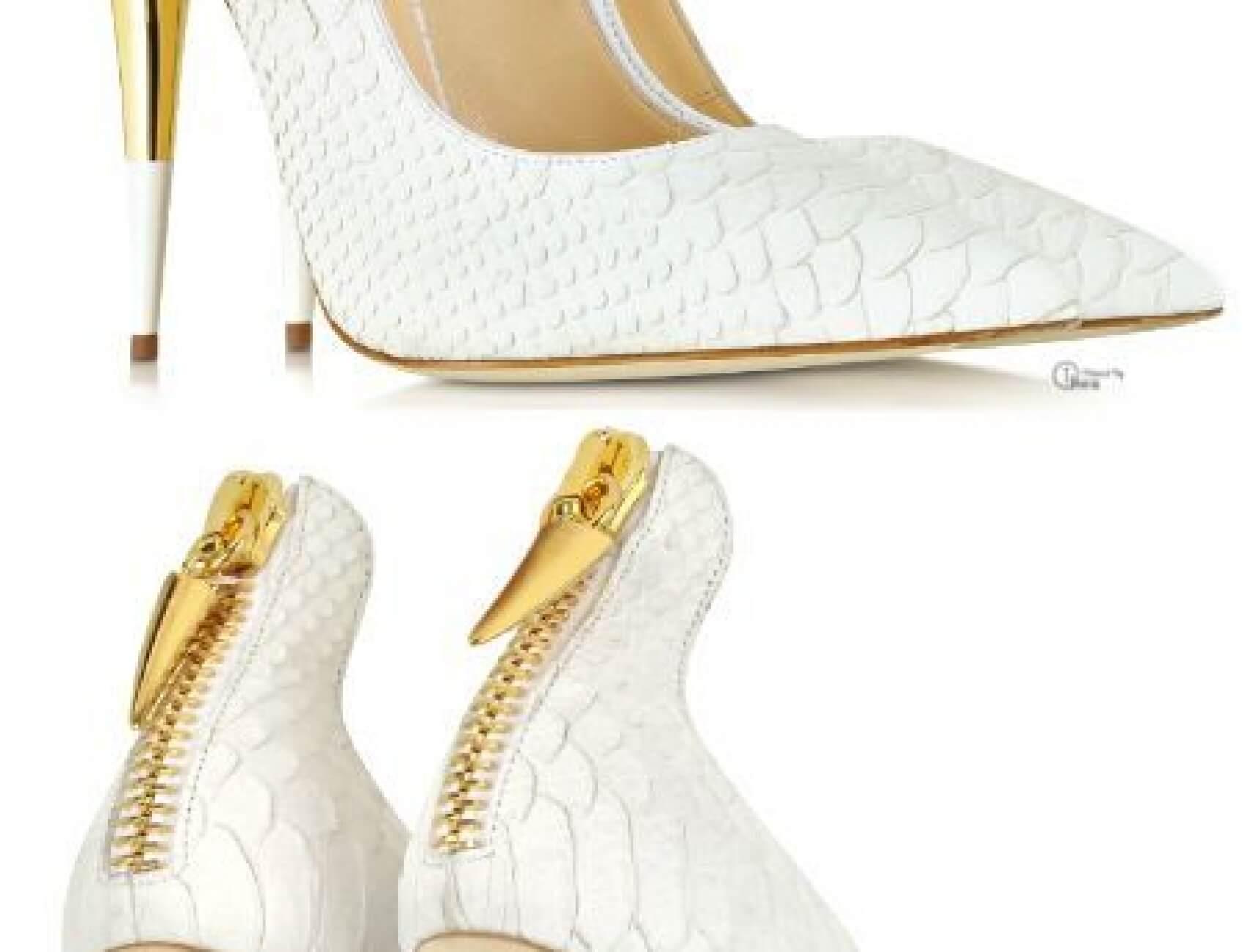 Yılan Derisi Beyaz Gelin Ayakkabısı Nasıl Olur